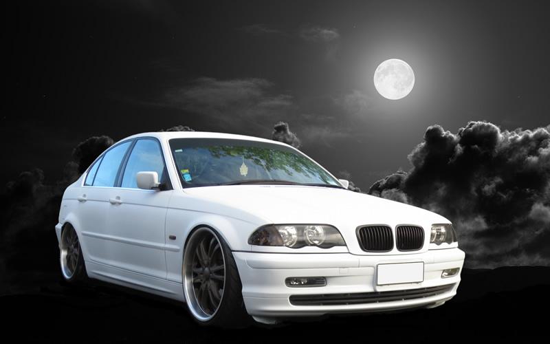 Complete Matt white dip on 3 Series BMW. Previously Silver.
